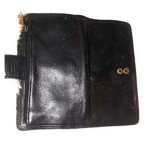 FOSSIL LEATHER BLACK WALLET